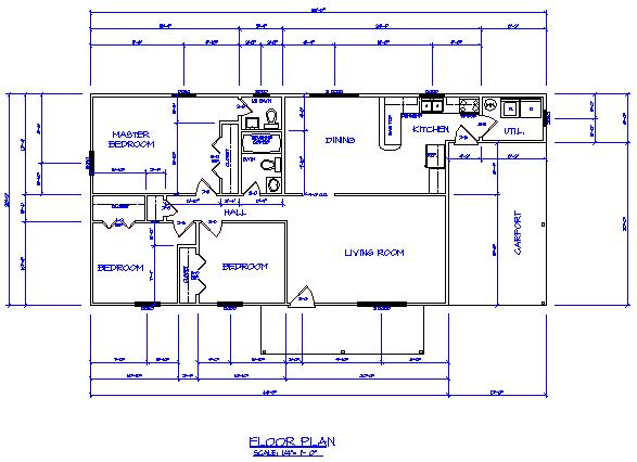 Drawing a floor plan in a cad program Cad software for house plans